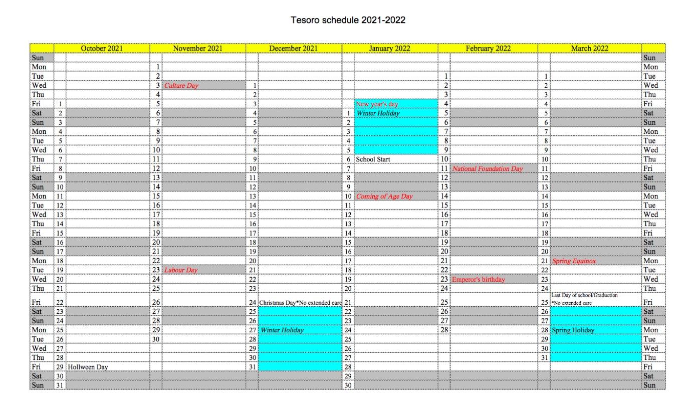 年間カレンダー2021_10-2022_03